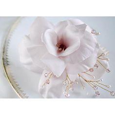 """Light pink rose with Swarovski crystals! #coutureflowers #hairflower #handmade #janaroyaledesign #bridalhair #pinuphair #vintagestyle #vintageglamour #blushpink"" Photo taken by @janaroyaledesign on Instagram, pinned via the InstaPin iOS App! http://www.instapinapp.com (09/02/2015)"