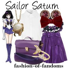 Sailor Saturn by fofandoms on Polyvore featuring Glamorous, Oscar de la Renta, Timeless, N'Damus, Honora, Ted Baker and Lanvin