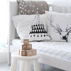 We are giving away Christmas trees! This pillow goes to everyone who purchases ooh noo goodies in excess of 100 EUR before Christmas.