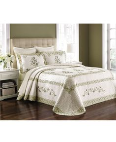 Martha Stewart Collection Abbey Garden Twin Bedspread (Only at Macy's)