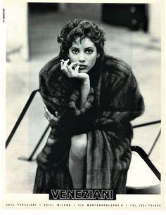 Christy Turlington for Veneziani ad, 1986, by Fabrizio Ferri