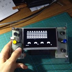 Arduino Space Invaders This game is fun. #Arduino #Atmel #AVR #ATmega328 #Retrogames #Retrogaming #Game #Videogames #spaceinvaders #レトロゲーム #インベーダー #ビデオゲーム by mobi.electronik