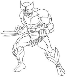 Wolverine Printable Coloring Pages X Men