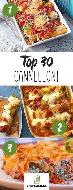 Top 30 Cannelloni-Rezepte: ob mit Gemüse, Fleisch oder Käse, in dieser Rezeptstrecke ist sicher für jeden etwas dabei!