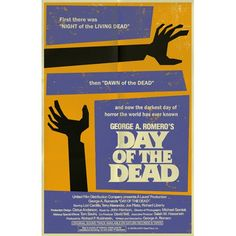 Watching this movie right now.  Day Of The Dead vintage style movie poster #happyhalloween #horror #zombies