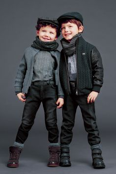 They look like high fashion chimney sweeps! Dolce and Gabbana step in time! :)