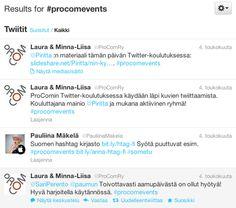 Olin kouluttamassa ProCom - Viestinnän ammattilaisten järjestämässä tilaisuudessa Twitterin käyttöä 4.5.2012. Erityisen paljon keskustelua herätti hashtagien käyttö, josta tässäkin tekstissä on lyhyt yhteenveto. Slideshare-esityksessä käydään läpi, miten Twitter-tili luodaan ja miten Twitteriä käytetään.