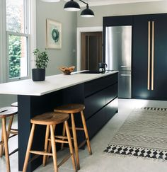 We love the Scandi design trend, where major focus lies on the natural beauty of exposed timber. Here are a few of our favourite Scandi-style kitchens from our archives for the perfect inspo! Kitchen Time, Old Kitchen, Open Plan Kitchen, Kitchen Pass, Kitchen Island, Kitchen Dinning, Dining, Kitchen Interior, Kitchen Design
