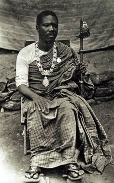 """Africa   """"King Mate Kole of East Krobo."""" Gold Coast / Ghana. July 1892   ©Historical Photographs from the Basel Mission"""