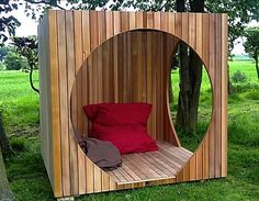 Reading nook for those prone to burning and freckling.  Cube (© Contemporary Garden Rooms)