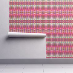 Isobar Durable Wallpaper featuring MUSIC DRUMS PINK PURPLE CORAL BOHO SUNNY AFTERNOON by paysmage   Roostery Home Decor