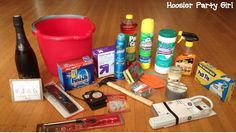 housewarming bucket gift basket with list of contents and other ideas