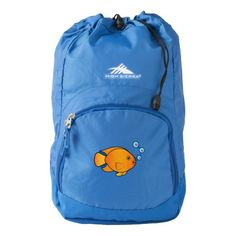 Parrot Fish Blowing Heart-Filled Bubbles High Sierra Backpack