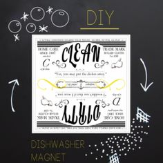 DIY Clean/Dirty Dish Washer Magnet