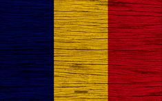 Download wallpapers Flag of Chad, 4k, Africa, wooden texture, Chad national flag, national symbols, Chad flag, art, Chad