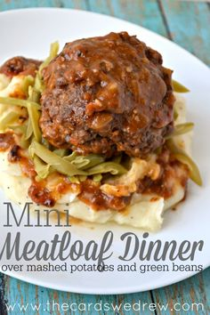 An easy 30 minute meal...Mini Meatloaf Dinner using Campbell's Soups for Easy Cooking