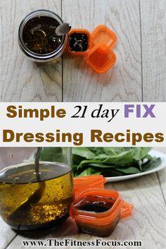 21 Day Fix Salad Dressing Recipes