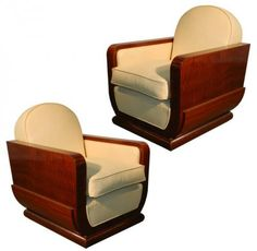 Two Normandie French Art Deco Armchairs By GASTON POISSON | Modernism