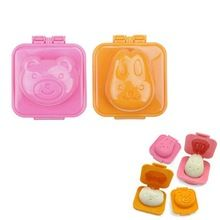 2PCS Cute Rabbit Bear Rice Lunch Boiled Egg Sushi Mold Cake Cookie Biscuit Pastry Baking Tool Kitchen Accessories(China (Mainland))