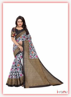 Poly Georgette Saree With Blouse Piece Art Silk Sarees, Silk Sarees Online, Georgette Sarees, Formal Saree, Casual Saree, Traditional Silk Saree, Traditional Art, Silk Sarees With Price, Designer Sarees Online Shopping