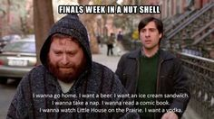 finals. or any day in nursing school. i especially enjoy the little house on the prairie part.