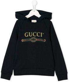 2e787b3e459e Gucci Kids Vintage Logo Hoodie - Farfetch