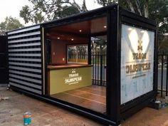 MÓDULOS PARA VIVIENDA – WOLFER Container Home Designs, Container Buildings, Container Architecture, Shipping Container Office, Shipping Containers, Container Coffee Shop, Container Conversions, Kiosk Design, Coffee Store