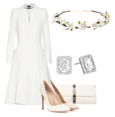 A fashion look from February 2017 featuring white coat, white pumps and white purse. Browse and shop related looks. Casual Fall Outfits, Classy Outfits, Chic Outfits, Royal Clothing, Royal Dresses, Fashion Corner, Velvet Fashion, Polyvore Outfits, Evening Dresses