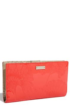 kate spade new york 'japanese floral embossed - stacey' wallet