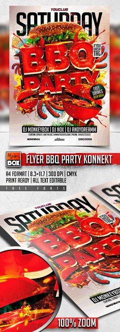Winter BBQ Party Party flyer, Flyer template and Template - bbq flyer