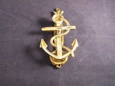 Vintage Brass ANCHOR Door Knocker Ships anchor brass door