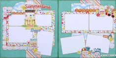 Cute summer two page layout kit from www.paisleyandpolkadots.com