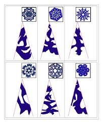 Výsledek obrázku pro как сделать снежинки из бумаги схемы
