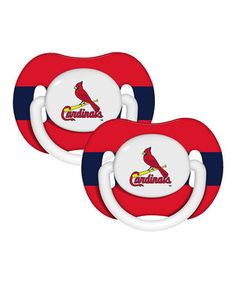 Loving this St. Louis Cardinals Pacifier - Set of Two on #zulily! #zulilyfinds