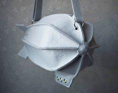 Grey Felt Dirigible Purse by krukrustudio on Etsy, $145.00