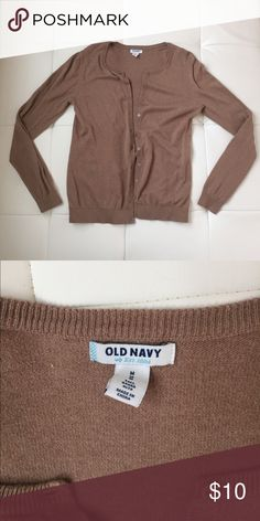 Old Navy Cardigan Tan Old Navy cardigan. Size medium. Old Navy Sweaters Cardigans