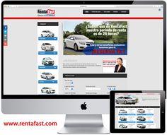 Diseño web para Renta Fast - www.rentafast.com  #LosCabos #Saltillo #RentadeAutos #PaginaWeb