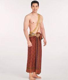 Traditional Thai Clothing, Traditional Fashion, Traditional Dresses, Thai Dress, Asian Men, Asian Guys, Thai Style, Harem Pants, Thailand