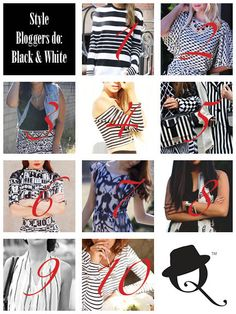 Top 10 Bloggers do -  Fall 2013 Fashion Trend: Black and White