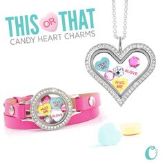 Create a sweet conversation with these *limited edition* Candy Heart Charms! Which look do you {love}?