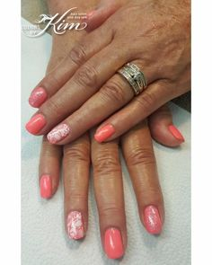 Fun Summer Gel Polish Manicure designed by Maria T! colorsbykim.com