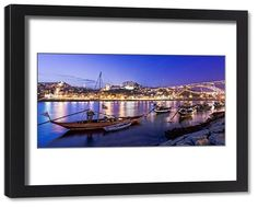 Framed Print-Blue hour at Oporto cm frame with high quality print made In Australia Framed Prints, Canvas Prints, Blue Hour, Douro, World Heritage Sites, Lisbon, Portugal, Old Things, England