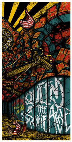 Queens of the Stoneage event poster for Calgary by Brad Klausen
