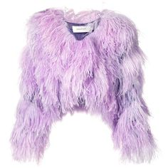 Marques'almeida cropped feather shrug ($2,755) ❤ liked on Polyvore featuring outerwear, purple shrug, feather shrugs, cropped shrug, cropped cardigan shrug and shrug cardigan