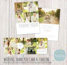 Hochzeit vielen Dankeschönkarte und von PaperLarkDesigns auf Etsy
