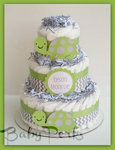 This is actually a diaper cake, but would love to make an actual cake of this...
