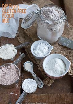 Mix di farine senza glutine fatto in casa. Finalmente un mix gluten free sano e perfetto per preparare dolci da forno! Non comprerete più i mix già pronti!