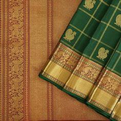 Kanjivaram saree  - Kanakavalli Kanakavalli Sarees, Kanjipuram Saree, Silk Saree Kanchipuram, Organza Saree, Saree Dress, Saris, Indian Sarees, Green Saree, Elegant Saree