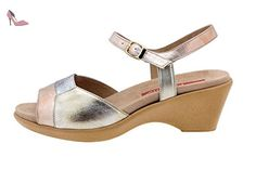 Chaussure femme confort en cuir Piesanto 4852 sandale semelle amovible comfortables amples - Chaussures piesanto (*Partner-Link)