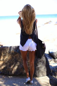 white #cutoffs